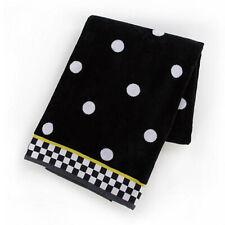 MacKenzie-Childs Dotty Beach Towel Combination of Polka Dots & Checkered Border