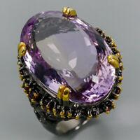 Ametrine Ring Silver 925 Sterling Handmade SET50ct+ Size 8.75 /R131214