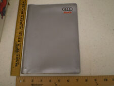 Genuine Factory Oem Audi Owners Manual Cover Pouch Book Case Gray 6 1/2 x 9 1/4