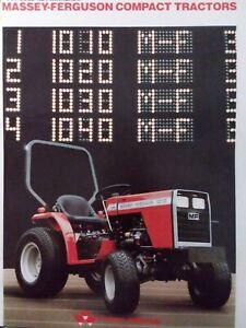 Massey Ferguson Tractor MF 1010 1020 1030 1040 1045 Major Repair Service Manual