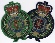 Ambulance Service Crest Motif Badge Patch 8.8 x 6.8cm IRON ON