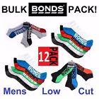 12 PACK MENS BONDS LOW CUT SPORTS ANKLE GYM MEN'S CUSHIONED SOCKS SZ 6-10 11-14