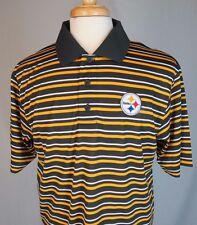 NWT Sz Large Majestic NFL Pittsburg Steelers Cool Base Short Sleeve Polo Shirt