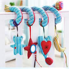 Baby Crib Cot Pram Hanging Rattles Spiral Stroller&Car Seat Toy Ringing Bell New