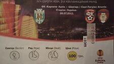 TICKET UEFA EL 2011/12 FK Karpaty Lwiw - St. Patrick´s Athletic