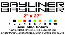 "Bayliner Boat Decals 2""x27"""