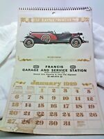 Vintage Automemories Of 1929 Wall Calendar~1985 Year Featuring 1929 Model Cars