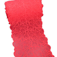 5 Yards 8-3/4 Inch Wide Red Stretch Lace Trims Elastic Lace for Sewing Decor