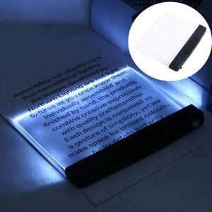 Creative Flat Plate LED Reading Night Light Portable Desk Lamp Eye Protect u