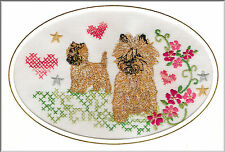 Cairn Terrier Birthday Card or Notecard Embroidered by Dogmania