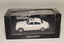 QQ 1:43 MINICHAMPS JAGUAR MKII MK 2 POLICE 1959 WHITE MINT BOXED