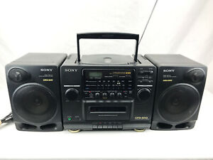 vintage Sony AM/FM/CD/Cassette Player ~ Model CFD-510 MEGA BASS BOOMBOX