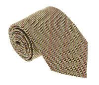 Missoni U4313 Gold/Red Basketweave 100% Silk Tie
