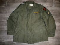 Vintage US ARMY Vietnam Era OG-107 1963 Cotton Sateen M1951 Field Men's Jacket M