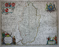 Original antique map NOTTINGHAMSHIRE 'Nottinghamiensis' Schenk & Valk, c.1700