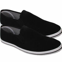Mens Canvas Shoes Slip On Casual Sports Comfortable Plimsoll Trainer Pumps Size
