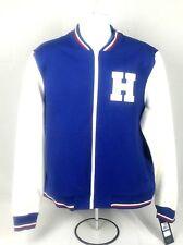 Tommy Hilfiger Varsity Letterman Jacket Blue White Mens...