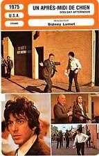 FICHE CINEMA : UN APRES MIDI DE CHIEN - Pacino,Allen,Lumet1975 Dog Day Afternoon