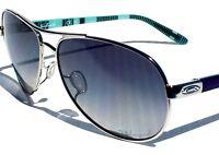 NEW* Oakley FEEDBACK Aviator Chrome w POLARIZED Grey Women's Sunglass 4079-07