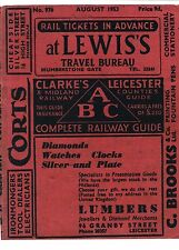 Leicester  ABC Railway Guide Timetable 1953