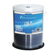 600 Optical Quantum Premium AZO Blue 52x 80MIN 700MB CD-R Silver Top