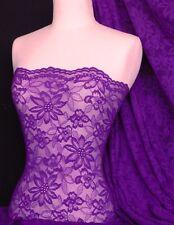 Purple scalloped flower 4 way stretch lace Q891 PPL