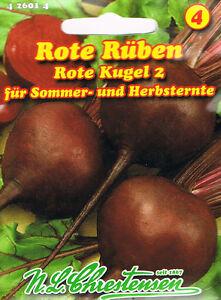 Rote Rüben ´Rote Kugel 2´ Sommer- und Herbsternte  ´Rote Beete´ Saatgut  426014