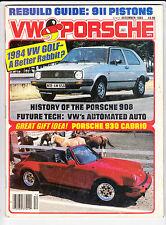Dec 1983 VW & Porsche ARGUS Magazine Baja Beetle Porsche 930 908 Super1600 Golf