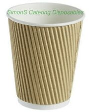 100 - 12oz DISPOSABLE PAPER COFFEE HOT DRINK CUPS  + 100 SIP THROUGH LIDS FREE !