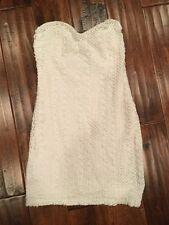 Sparkle & Fade Anthropologie White Mini Strapless Tube Dress, Size 2