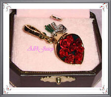 New Juicy Couture Bouquet of Roses Charm for Bracelet Necklace Handbag Keychain