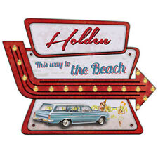 Holden EH Wagon Light up Tin Wall Sign Father's Day Gift
