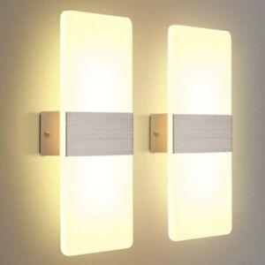 2x 12W LED Wandleuchte Acryl Treppenleuchten Wandbeleuchtung Deckenlamp Warmweiß