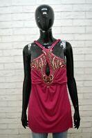 LIU JO Donna Blusa Canotta Canottiera Camicetta Maglia Taglia 48 Shirt Women's