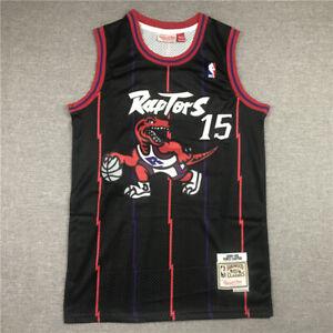 Raptors #15 black retro big dragon jersey size S-XXL