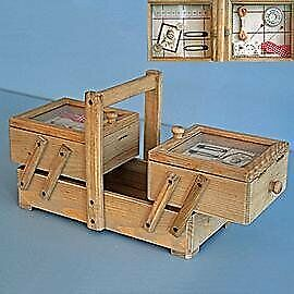 Wooden Sewing Box Concertina Style