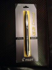 NEW PILOT G2 LIMITED  GREY Fine 0.7mm Pt Gel Roller PEN  Black Ink 31541 SEALED