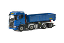 WSI MODELS SCANIA R NORMAL CR20N PALFINGER HOOKLOADER BLUE 04-2048