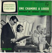 JACQUES LOUSSIER Une chambre à louer 1965 EP BO OST Serie TV French Press Jazz