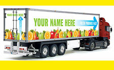 Tamiya 1/14 Maßstab Truck INDIVIDUELL PERSONALISIERT Kühl lkw sticker aufkleber