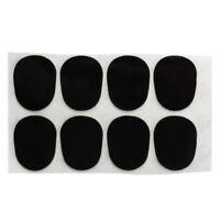 8pcs Alto Saxophone Mouthpiece Patches Pads Cushions 0.8mm Black WS