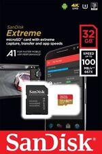 SanDisk Extreme 32GB microSDHC Micro SD SDHC 100mb/s V30 SDSQXAF-032G-GN6MA