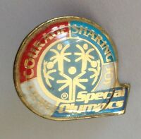 Special Olympics Retro Courage Sharing Pin Badge Vintage Rare (N6)