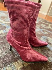 Pink Crushed Velvet Boots (Predictions) Size 7 1/2