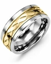 Two Tone Infinity Band Ring Solid 925 Sterling Silver Ring RSG 441
