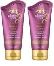 2 x AVON Planet Spa Radiant Gold Face Mask With Gold & Oud