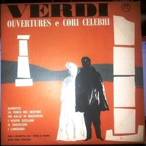 Verdi ouvertures e cori celebri Nello Santi MMS 2316 Vinile Disco 33 giri Lp