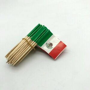 Toothpicks MEXICO Flag Paper Cupcake Sticks Party Cocktail Catering French UK A1