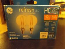 GE Refresh 2-Pack 40w watt Equivalent Dimmable Daylight G16.5 LED Light bulbs