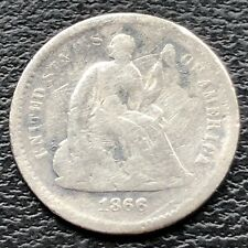 1866 S Seated Liberty Half Dime 5c Better Grade #25644